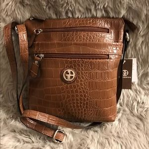 GIANI BERNINI FAUX CROCODILE Crossbody Handbag